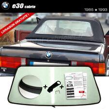 Lunette arrière BMW e30 Cabriolet VERT ORIGINE fermeture éclair
