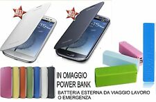 CUSTODIA FLIP COVER CASE LIBRO SLIM per SAMSUNG GALAXY S3 i9301 NEO + POWER BANK