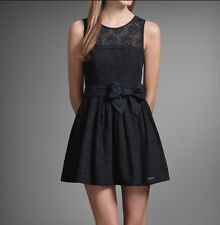 Abercrombie & Fitch Women Kendell Lace Dress/Navy Blue/ Size: Large
