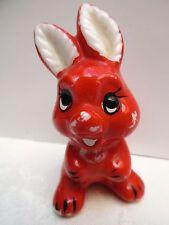 Roter Hase aus Porzellan, Größe ca. 6,5 cm, Goebel ?, Ostern, Osterdeko, antik