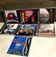 Playstation 1 PS1 Vintage Video Game Lot of (7) Black Labels Complete Full Test