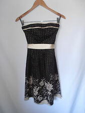 MISS SHOP, SIZE 8, BNWT, BLACK/BEIGE, STRAPLESS, FORMAL/RACES DRESS