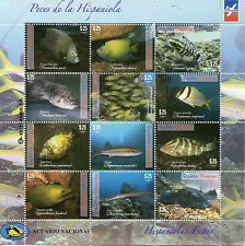 More details for dominican republic 2014 mnh hispaniolan fishes 12v m/s fish marine ray