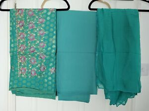 Embroidered Unstitched Salwar Kameez Material Makes 3 Piece Suit Fabric