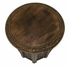 Jaipur Solid Wood Hand Carved Table Furniture, Antique Brown - New
