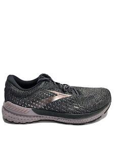 Brooks Women's Adrenaline GTS 21, Gray/Purple Road Running Shoes, Size 9.5, Wide