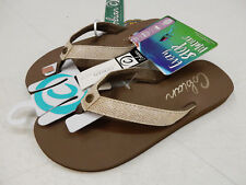 COBIAN WOMENS SANDALS FIESTA SKINNY BOUNCE TAN SIZE 10