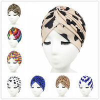 Islamic Hijab Indian Headwrap Muslim Women Printed Chemo Cap Stretch Turban Hat