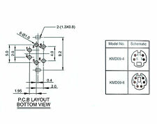 10pc Mini DIN Jack Connector Socket Female 6P 6pin PCB pin KMD09-6 RoHS