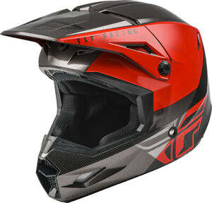 YOUTH FLY RACING KINETIC STRAIGHT EDGE HELMET RED