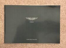 ASTON MARTIN HWM V12 Vanquish DB7 v12,Vantage, 2001 Brochure RARE