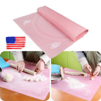 Silicone Non-Stick Cake Dough Fondant Rolling Kneading Mat Scale Table Grill Pad