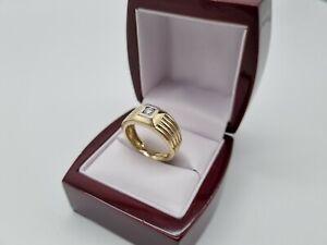 585 Gelbgold Herren Ring ,Siegelring Diamant/Brillant
