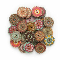 100Pcs Wooden 2 Holes Round Wood Sewing Buttons DIY Craft Scrapbooking 20mm/25mm