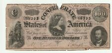 1864 one hundred dollar confederate note