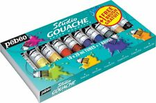 PEBEO Studio gouache Starter Pack 10 x 20ml tube set + 1 Gratuit Brosse