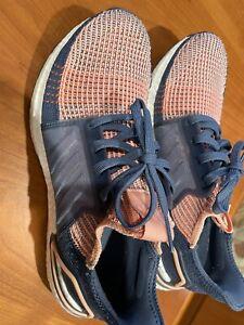 Womens Adidas (G54013) ULTRABOOST 19 w Glow Pink / Tech Ink Running Shoes Sz 8