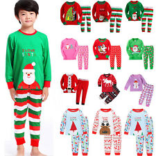 2Pcs Kids Boys Girls Xmas Pj's Sleepwear Nightwear Christmas Pajamas Outfit Sets