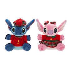 "Disney Store Authentic Stitch & Angel 2pc Plush Toy Doll Holiday Set 6"" NWT"