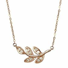 1/10 ct Diamond Leaves Necklace in 10K Rose Gold