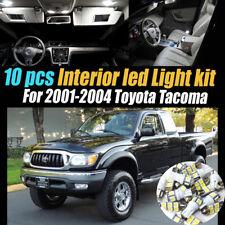 10Pc 6000k White Interior LED Light Bulb Kit Pack for 2001-2004 Toyota Tacoma