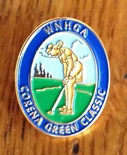 New listing Vintage WNHGA Corena Green Classic Lapel Pin