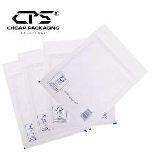 50 Pcs - Multi Size Genuine Featherpost White Bubble Padded Mailers Bags by CPS