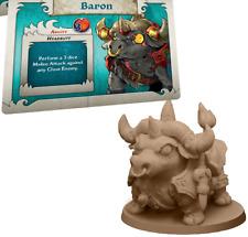 Arcadia Quest: Riders Baron Bull promo miniature + stat card game night kit New