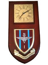 1st bn Parachute Regiment Military Shield Wall Plaque Clock