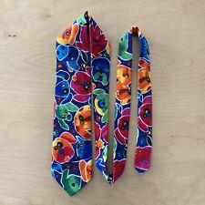 Lands End Multicolored Dogs 100% Cotton Men's Tie