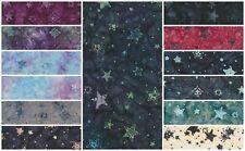 Batik Fabric, stars, 100% Cotton, FQ, HM, M, Crafting, Quilting Patchwork