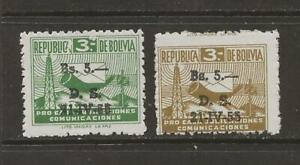 BOLIVIA - 1955 MLH POSTAL TAX STAMPS - SCOTT RA21-22 - A43