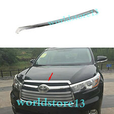 ABS Chrome Front Hood Grill Cover Bonnet Trim For Toyota Highlander 2014-2018