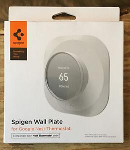 SPIGEN Google Nest Thermostat Wall Bracket/Plate/Mount White