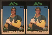 👀👉Lot Of 2x 1986 Topps Trd Jose Canseco #20T ⭐️RC⭐️💎mint💎A's!💪🏻Free Ship💰