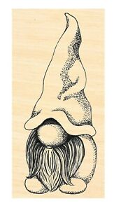 P124 Small Tomte- Gnome Rubber Stamp