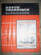 FIAT 238 (FORD Capri PEUGEOT 104) - Revue Technique Automobile RTA NEUVE