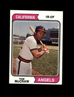 1974 Topps Baseball #449 Tom McCraw (Angels) NM+