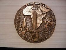 ENSOA  104°PROMO  SC  VAN  CASSEL  2°REP  ALGERIE  1961   méd de table en bronze