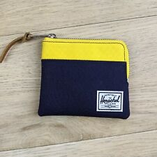 NWT Herschel Supply Johnny Wallet Navy and Yellow RFID