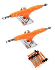"Gullwing Pro III 9"" Orange Skate Trucks Pair + Cal 7 Orange 1.25"" Hardware"