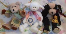 Boyds Plush Baby Lot Dipsey Baadoodle Lamb, Bunky Mcfarkle Dog & Paddy Bear Mwt