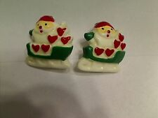 Vintage Hard Plastic Santa in Sleight Scatter Brooches