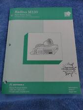 Motorola Radius M130 Vhf Mobile Radio Service Software Manual 6880903z67 O 308