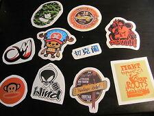 SET 7: LOT de 10 Stickers déco voiture ordinateur guitare moto meubles téléphone