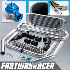 Universal Black Polished 2.5'' Aluminum FMIC Intercooler Piping Kit+ Type RS Bov