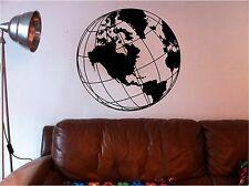 IMPRESIONANTE mapa del mundo Globo Adhesivo de pared con texto VINILO