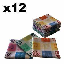 Childrens Handkerchiefs - 12 pack Stars & Animals 25x25cm Hankies - Cotton Hanky
