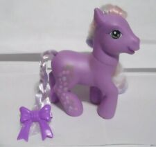 Vintage My Little Pony Purple Pony Lavender Hair Back side Tulips 2006 #16