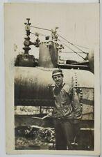 Pottsville Pa Handsome Railroad Worker  to Clara Stone York Pa RPPC Postcard O1